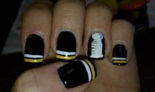 My Stanley Cup nail designs - Chez Bella - Marlboro MA - Kim is the ish!! GO BRUINS! suglevich