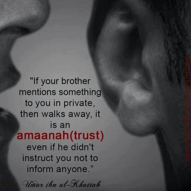 Amaanah/trust. Islam