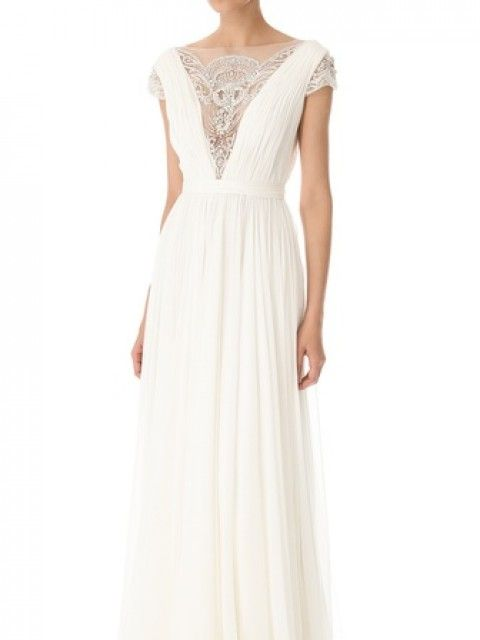 Fancy Reem Acra Goddess Size Wedding Dress