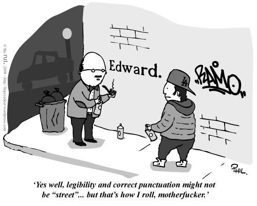Grammar  Damn straight.Laugh, Funny Pictures, Street Art, Funny Stuff, Humor, Things, Rolls, Grammar, Streetart