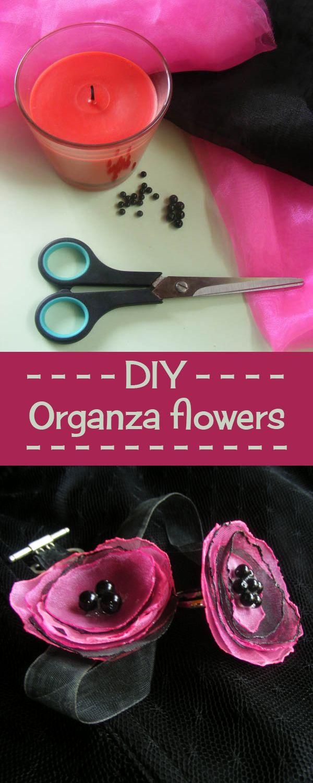 Tutorial for cute DIY accesories using simple organza flowers.