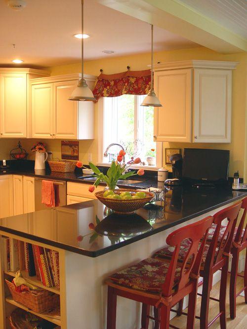 Kitchen Peninsula Like The Cookbooks On The End