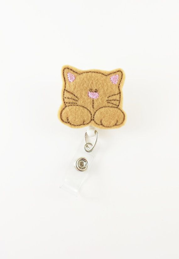 Kitten  Name Badge Reel  Retractable ID Badge by SimplyReelDesigns