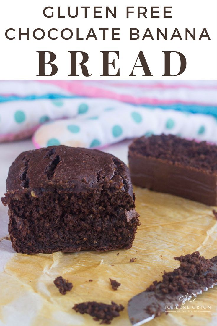 Healthy Gluten Free CHOCOLATE BANANA Bread that contains no sugar or fat!