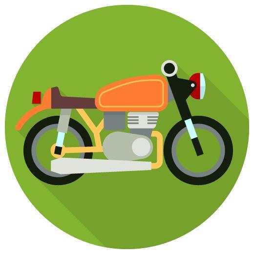 バイクのフラットアイコン