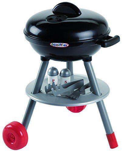 Ecoiffier 668 Jeu D'imitation Cuisine Barbecue Charbon: descriptif produit: un barbecue version noir roulant avec plein d'accessoires: 6…