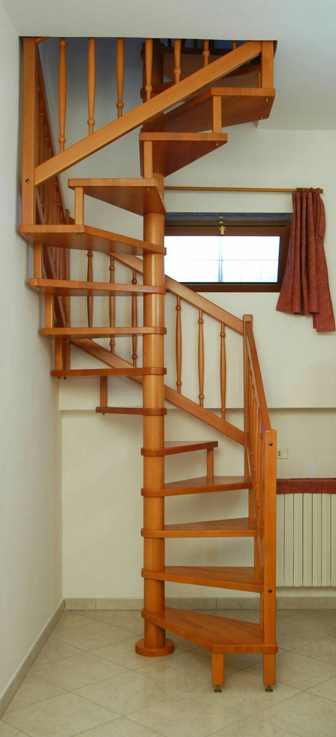 Discover All The Information About The Product Square Spiral Staircase /  Wooden Steps / Stainless Steel Frame / Without Risers SATURNO LEGNO L  SATURNO   Ci.