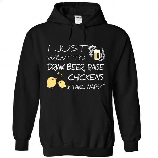 Beer, Chickens And Naps - #sleeveless hoodie #the first tee. ORDER HERE => https://www.sunfrog.com/Pets/Beer-Chickens-And-Naps-3113-Black-Hoodie.html?60505