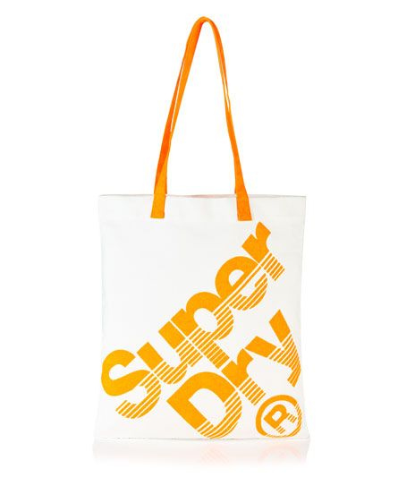 #superdry Superdry Calico tote bag. This cotton tote bag has contrast handles and is finished with a Superdry logo print on the front. L 42cm x W 38cm 318524450004712M007 Orange Condition | new
