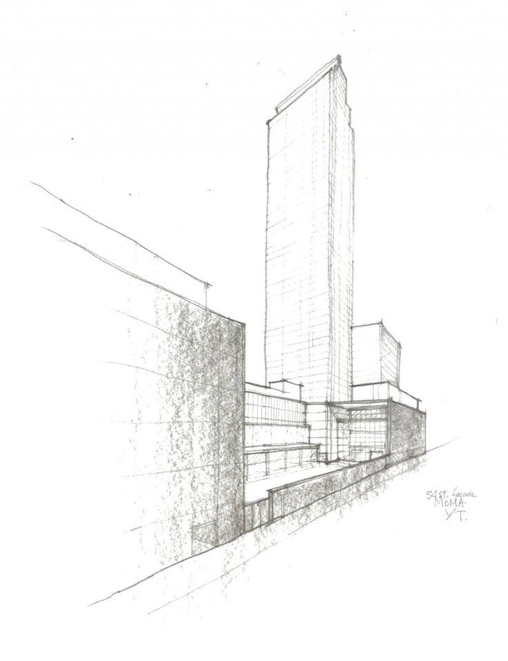 AD Classics: The Museum of Modern Art Competition sketch. Image © Yoshio Taniguchi