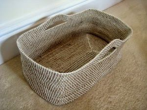 Easy Homesteading: How To Crochet a Rope Basket DIY