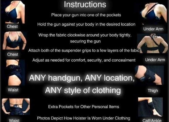 concealed carry gun holster for women