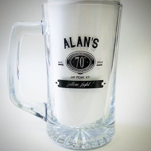 Glassware printed for a 70th #birthday. Customised glasses make for a great party favor, giveaway, or gift. Also perfect for a wedding or anniversary! #beer #stein #craftbeer #brew #brewery #print #coffee #tea #glass #anniversary #wedding #party #specialty #personalized #whiskey #tgif