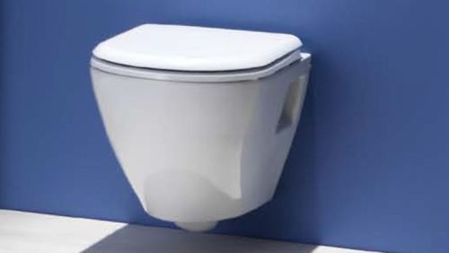 CREAVIT WALL HUNG PAN TOILET WITH SOFT CLOSE SEAT 325 CHEAPEST ON EBAY | eBay