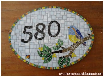 Número em mosaico - Pássaro