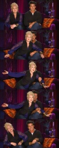 Cyndi Lauper and her husband. They are so freaking cute ♥