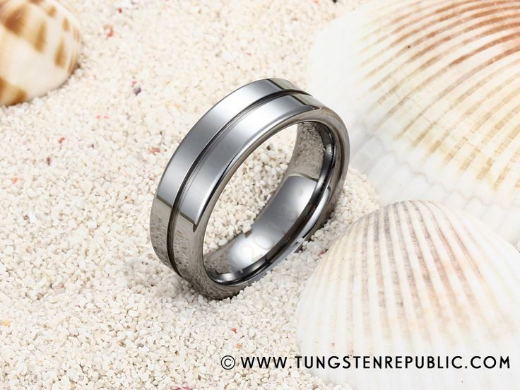 Groove and Flat Design Tungsten Ring for Men49 best Design Your Own Rings images on Pinterest   Ring designs  . Design Your Own Mens Wedding Ring. Home Design Ideas