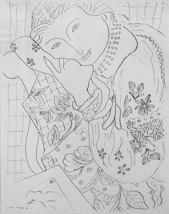 http://chelmusart.ru/fotoreportazhi /matissiegovremja/ Анри Матисс. Женский портрет (Лидия Делекторская в славянской блузе).