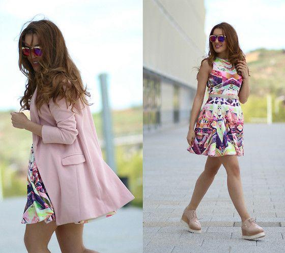 Sheinside Dress, Sheinside Coat, Jessica Buurman Platforms