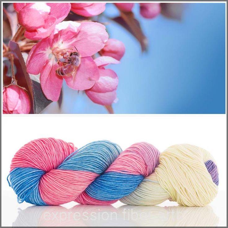Apple Blossom Resilient Superwash Merino Sock