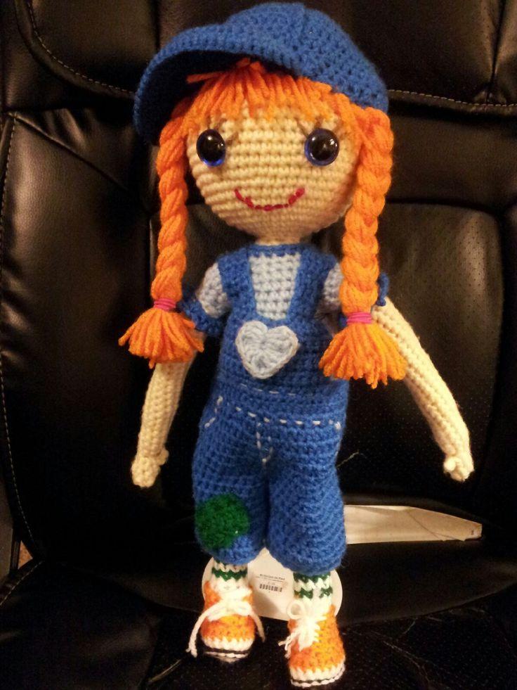 "18"" crochet doll - members of IGDID - bid on this doll. Handmade by Felicity ☆"