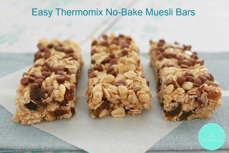 Thermomix No-Bake Muesli Bars - BakePlaySmile