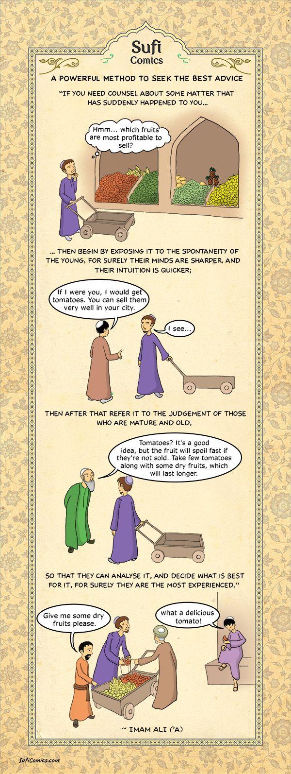 Sufi Comics: A Powerful Method to seek the Best Advice