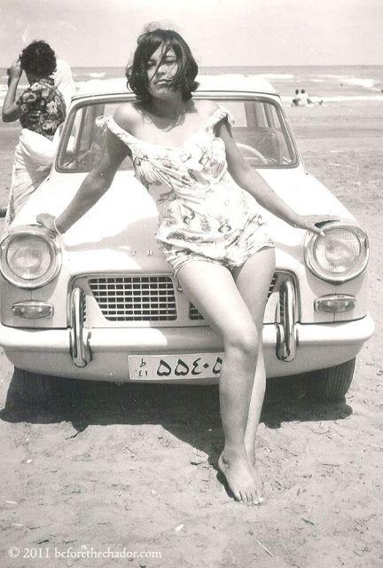 Mulher iraniana na era antes da revolução islâmica do aiatolá Khomeini. Irã, 1960
