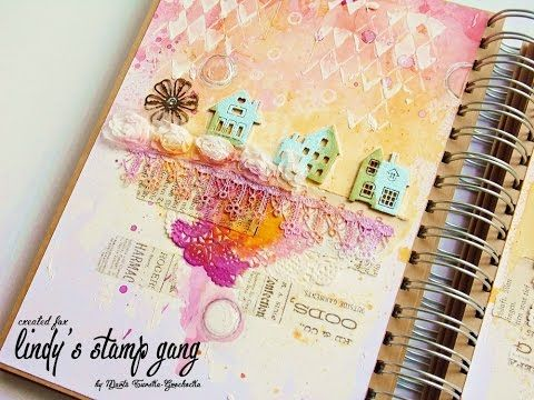 Mixed media art journal HOME - YouTube