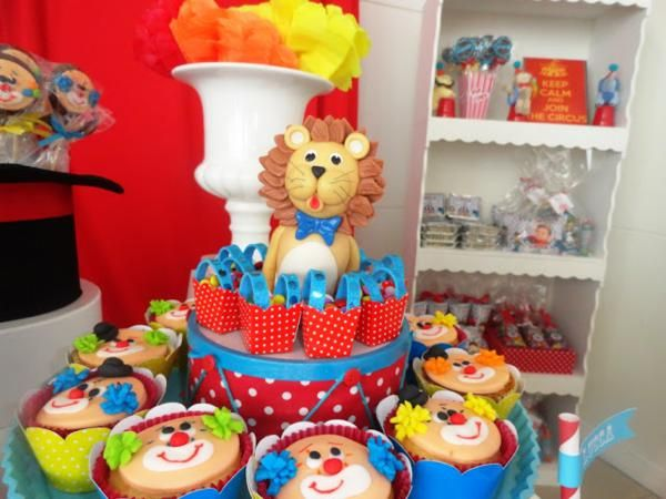 Circus Carnival 1st Birthday Boy Girl Party Planning Ideas Decorations