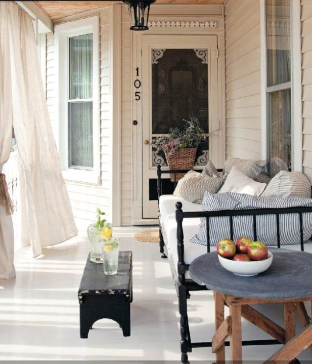 So cozy!  Ah for days of just lounging on an old fashioned porch...