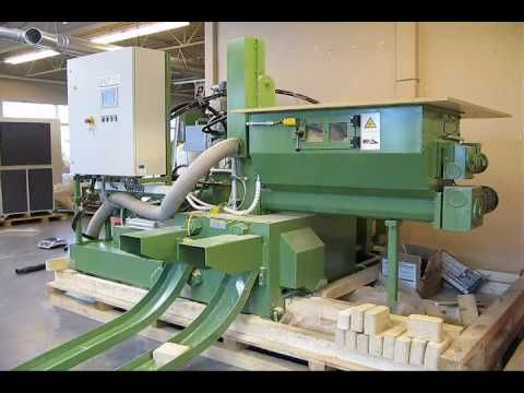 RUF Biomass Briquetting Machine - MDF and Sawdust - YouTube
