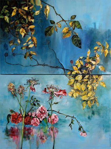 Veertien dae siklus. Ingrid Jonker, Die môre is jy. Oil on canvas painting. SOLD
