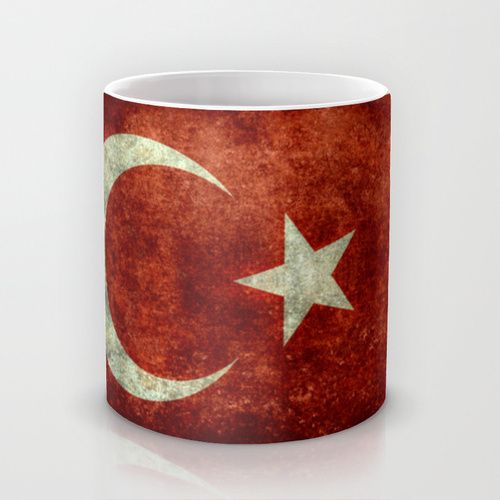 The National flag of Turkey - Vintage version Mug by LonestarDesigns2020 - Flags Designs + | Society6
