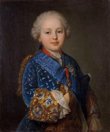 Prince Louis Auguste de France, Duc de Berry (1754 - 1793), Petit-Fils de France -futur roi Louis XVI- / By J.M. Fredou.