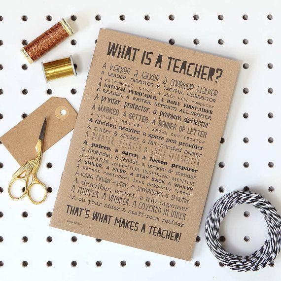 Teacher Poem Slim Notebook Teacher Leaving Gift Teacher Retirement Gift Goodbye Teacher Present