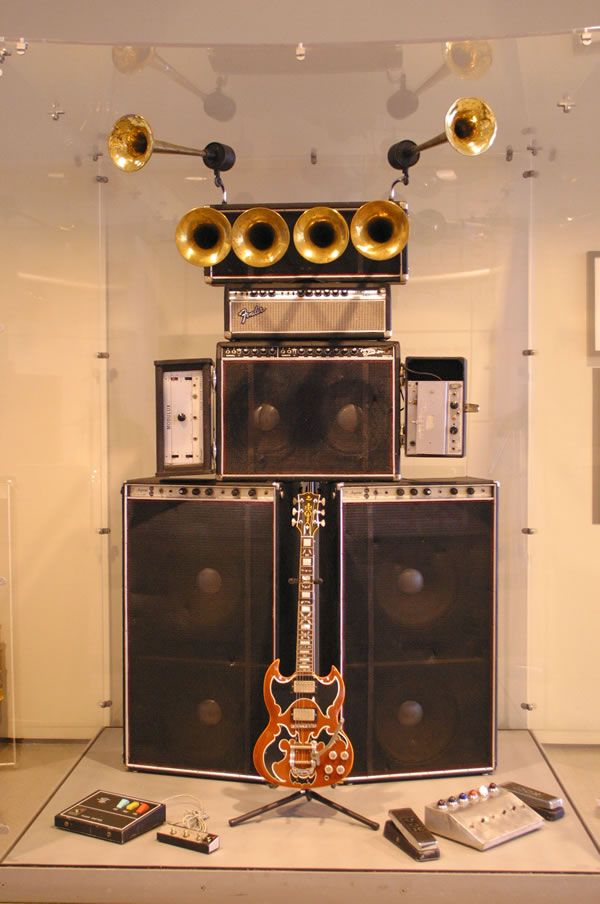 John Cipollina of Quicksilver Messenger Service's Amp Stack on Display at the Rock and Roll Hall of Fame and Museum