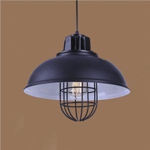 (EU Lager)Pendelleuchte Industrie Stil Schale Design Schwarz 1-Flammig