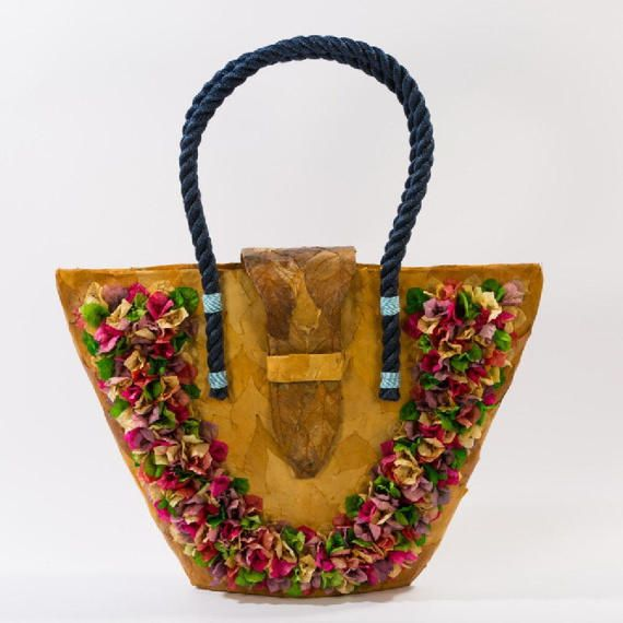 Flower bag BOUGAINVILLEA flowers Natural Materials Hedera