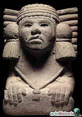 PERIODO POSTCLASICO: Toltecas: La religión politeísta estaba dominada por dos deidades principales. El primero, Quetzalcóatl, se representaba como una serpiente emplumada. Era la deidad del conocimiento, cultura, filosofía, y la fertilidad; fue adoptada de culturas anteriores. Su contraparte o rival es Tezcatlipoca, el espejo empañado, conocido por su naturaleza guerrera.