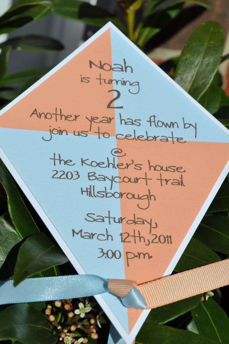 Koehler Family: noah's kite party details