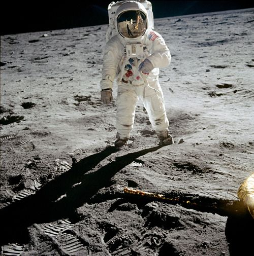Buzz Aldrin on the moon, (1969)