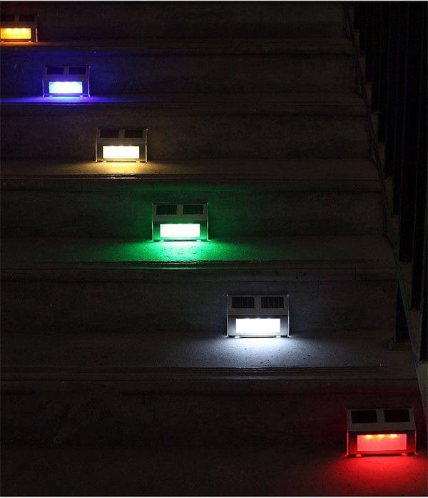 Luces Led Solares Exterior Contemporaneo Luces Solares De Escaleras Impermeable 3 Led Lampara En 2020 Luces Solares Exterior Luz Led Jardin De Exterior