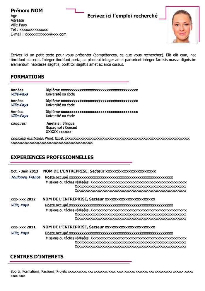 Exemple De Cv En Anglais Gratuit A Telecharger Cv Word Downloadable Resume Template Curriculum Vitae Microsoft Word Resume Template