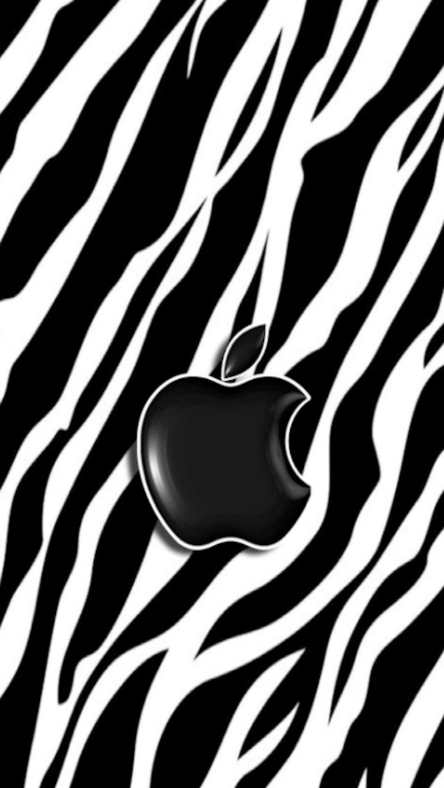 Download Zebra Apple 640 x 1136 Wallpapers - 4468370 - Apple Zebra iPhone Black | mobile9