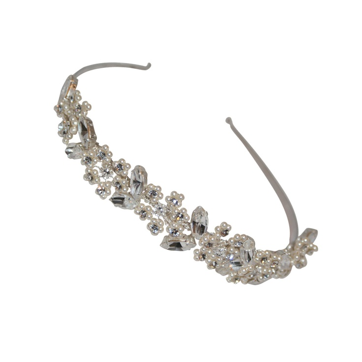 Anna vintage inspired pearl and diamante bridal headband - Tantrums and Tiaras - Affordable quality