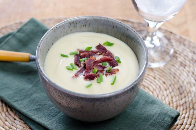 Easy Gluten-Free Cauliflower Celeriac Soup #paleo #glutenfree #recipe