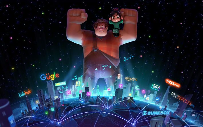 Download wallpapers Ralph Breaks the Internet, 4k, Wreck It Ralph 2, characters, 2018 movie, Ralph 2