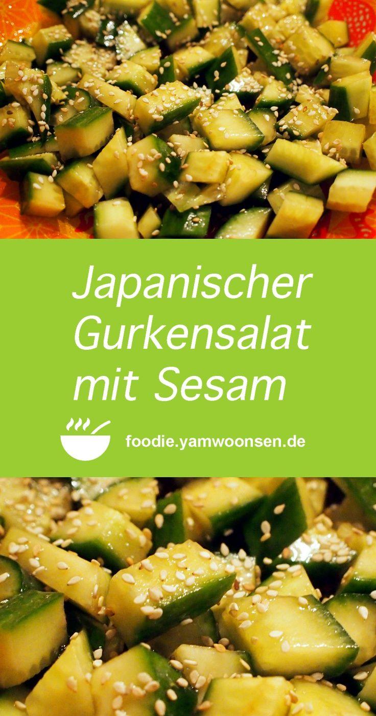 Japanischer Gurkensalat mit Sesam