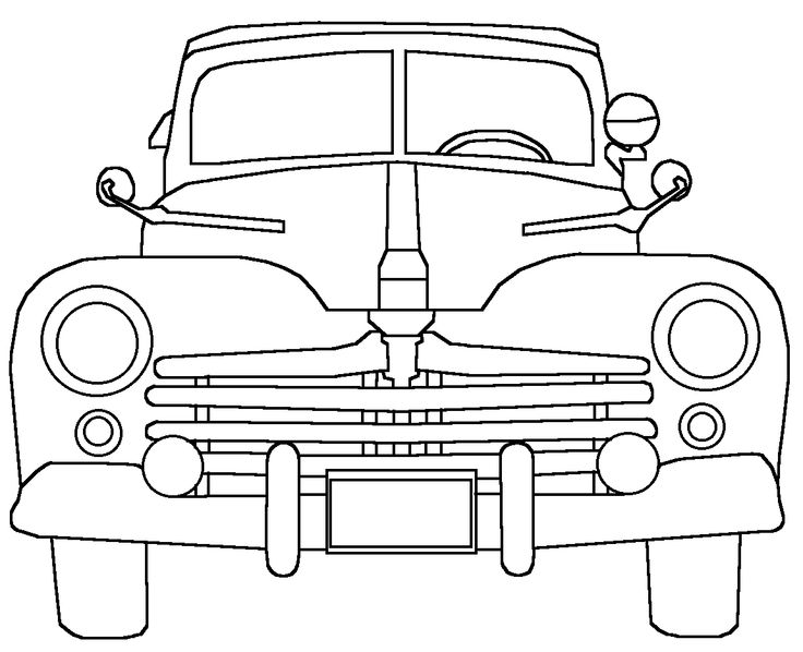 Line Drawing Software : Line drawing of old cars connected lines software and